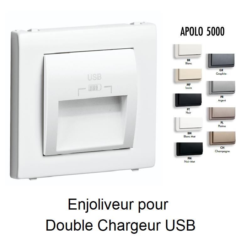 Enjoliveur pour Prise Double USB APOLO 5000