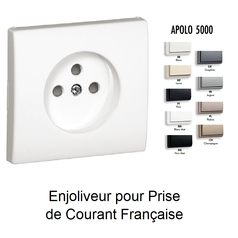 Enjoliveur de Prise de courant 2P+T APOLO 5000