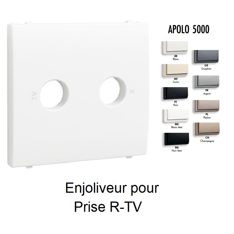 Enjoliveur pour Prise R-TV - 2 sorties APOLO 5000