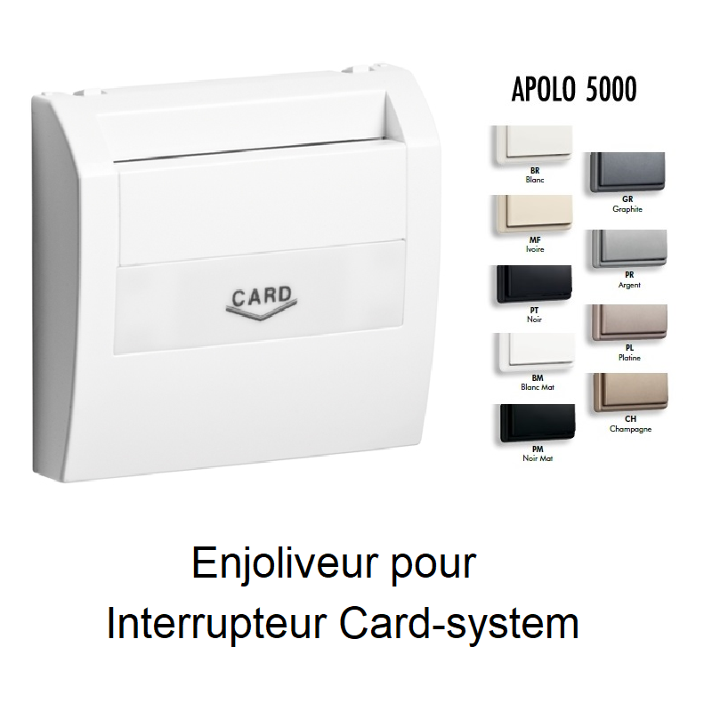 Enjoliveur pour Interrupteur Card-system - Apolo5000