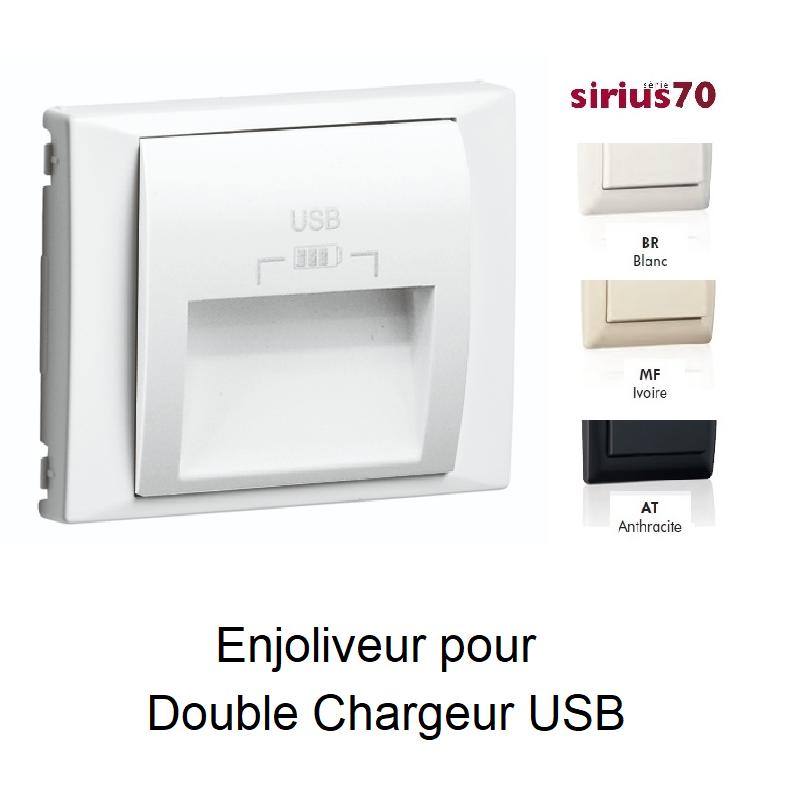 Enjoliveur pour Prise Double USB SIRIUS70