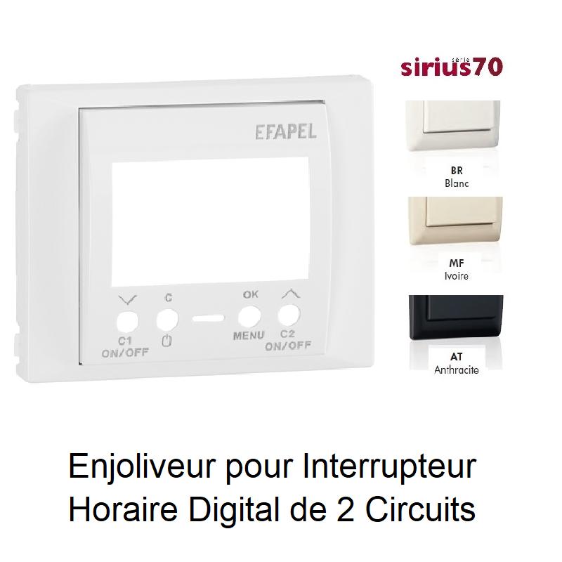 Enjoliveur pour interrupteur horaire digital de 2 circuits Sirius70744T