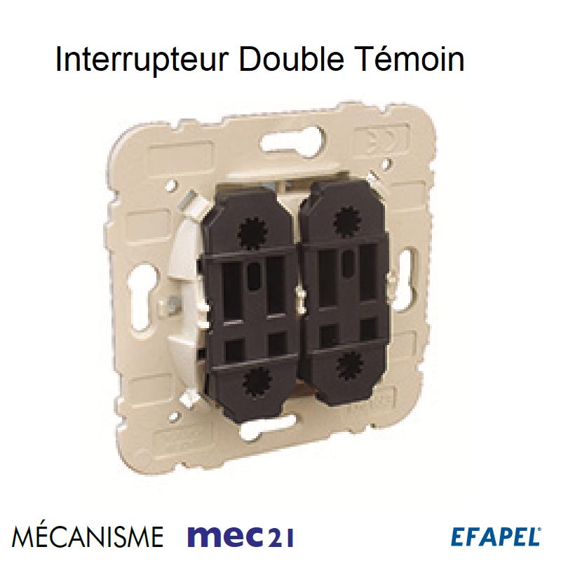 Mécanisme Interrupteur Double Unipolaire Témoin