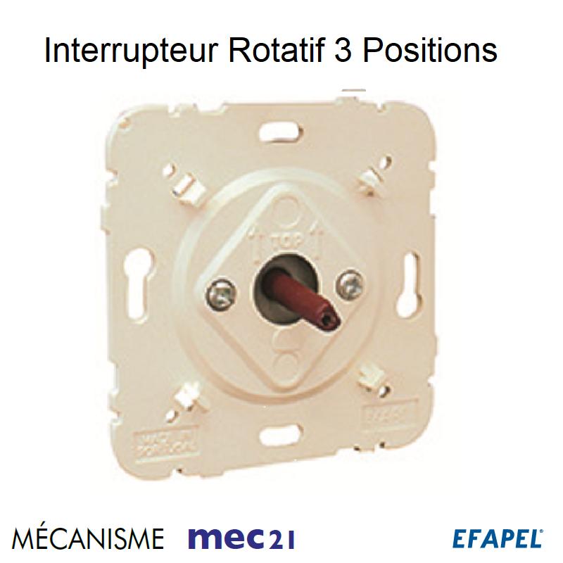 Mécanisme d\'Interrupteur Rotatif de 3 Positions