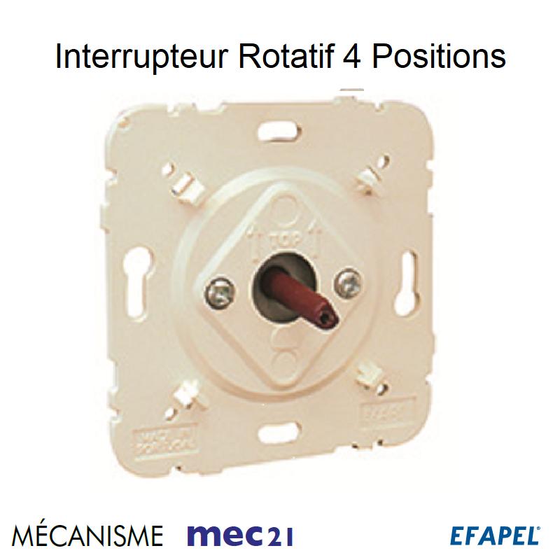 Mécanisme d\'Interrupteur Rotatif de 4 positions
