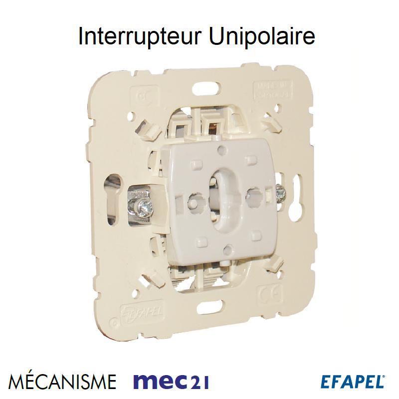 Mécanisme Interrupteur Unipolaire