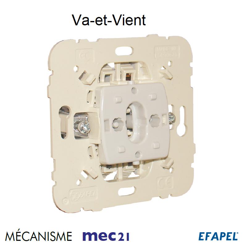 Mécanisme Interrupteur Va-et-Vient 10AX