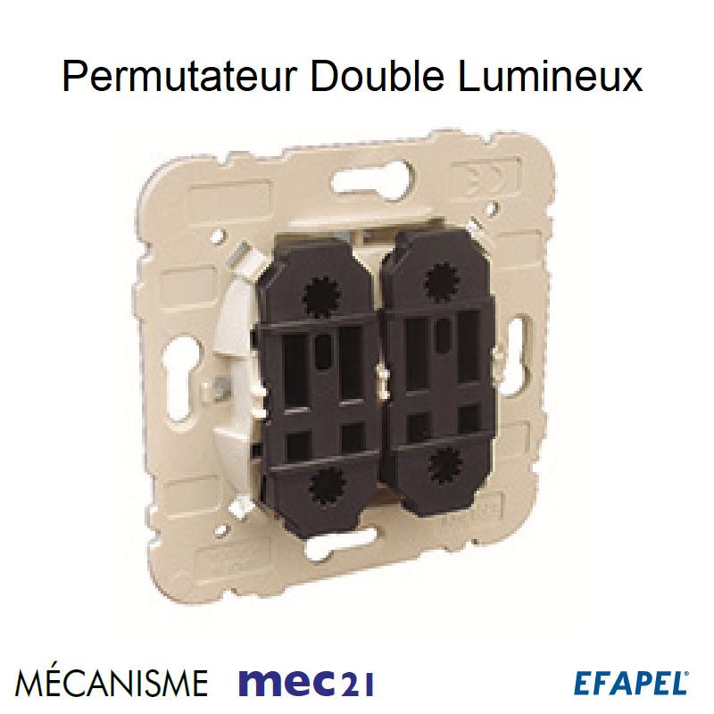 Mécanisme de Permutateur Double Lumineux