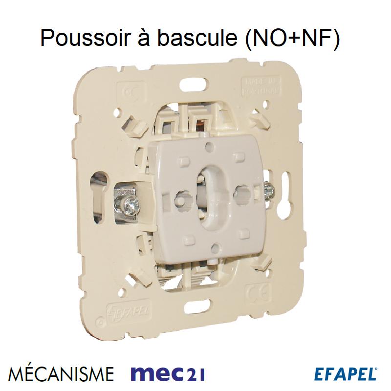 Mécanisme Poussoir à bascule (NO+NF)