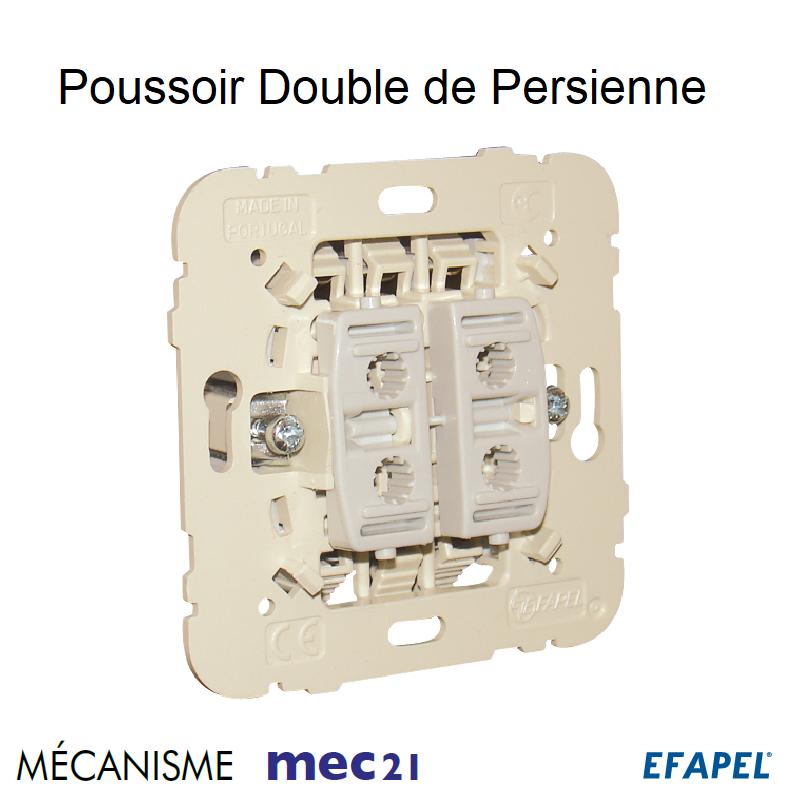 Mécanisme Poussoir Double de Persienne