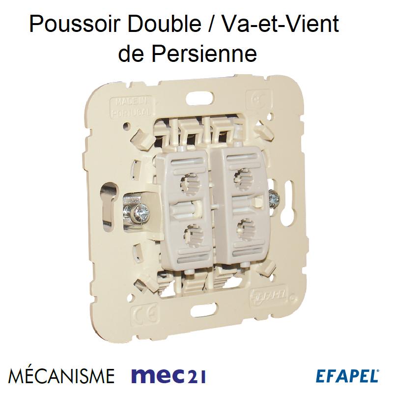 Mécanisme Poussoir Double / Va-et-Vient de Persienne