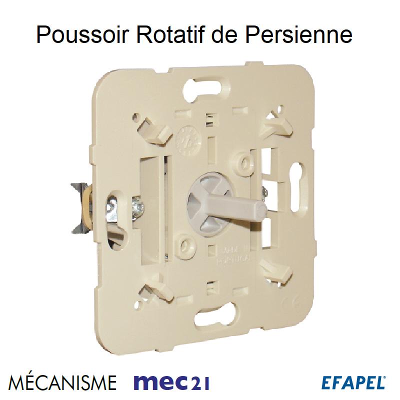 Mécanisme de Poussoir Rotatif de Persienne