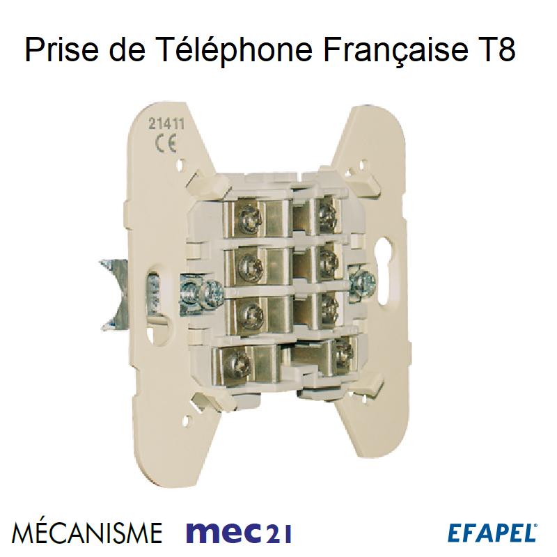 Mécanisme de Prise de téléphone Française T8