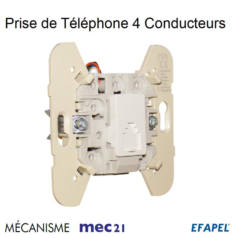 Mécanisme de Prise de téléphone Gel - 4 Conducteurs