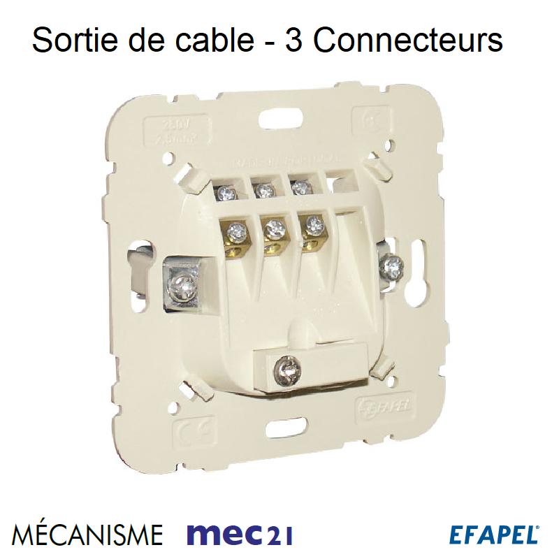 Mécanisme Sortie de câble 3 connecteurs