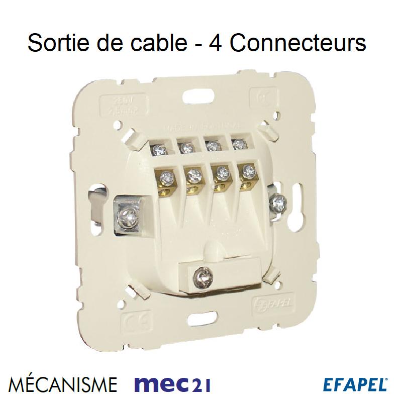 Mécanisme Sortie de câble - 4 connecteurs