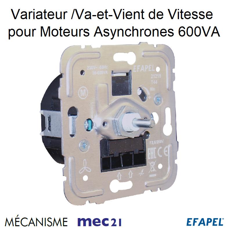 Mécanisme Variateur/Va-et-Vient de Vitesse pour Moteurs Asynchrones - 600VA