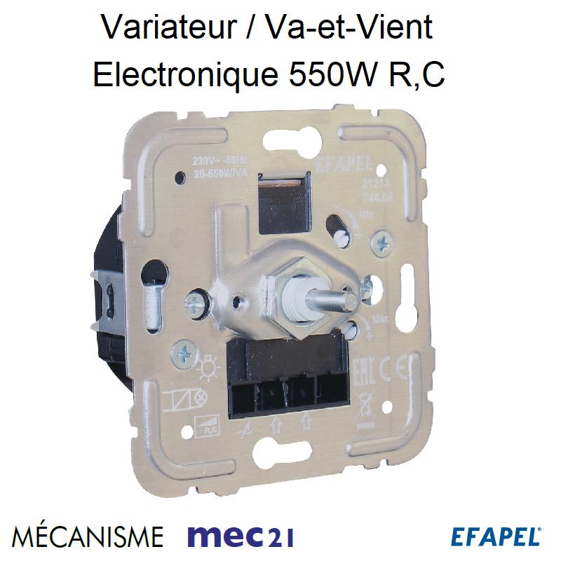 Mécanisme Variateur Va-et-Vient Electronique 550W R,C mec21