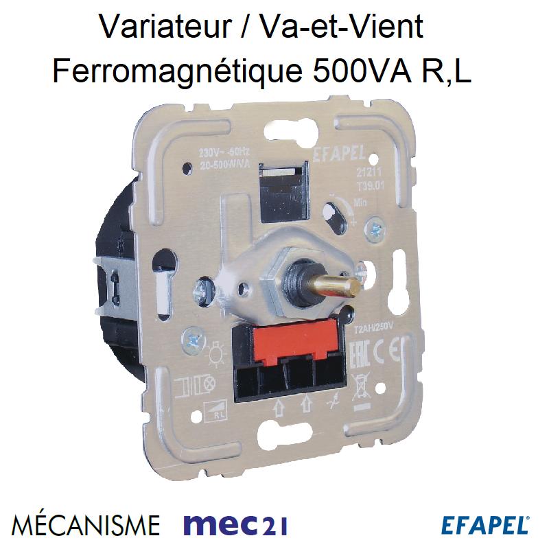 Mécanisme Variateur Va-et-Vient Ferromagnétique 500VA R,L mec21