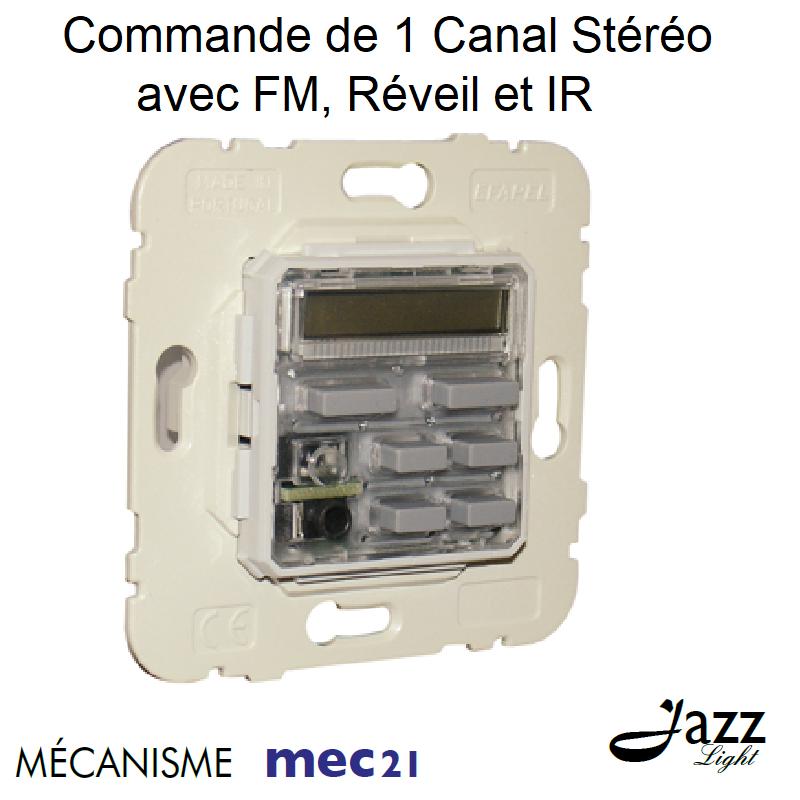 Mécanisme de Commande de 1 Canal Stéréo avec FM, Réveil et IR