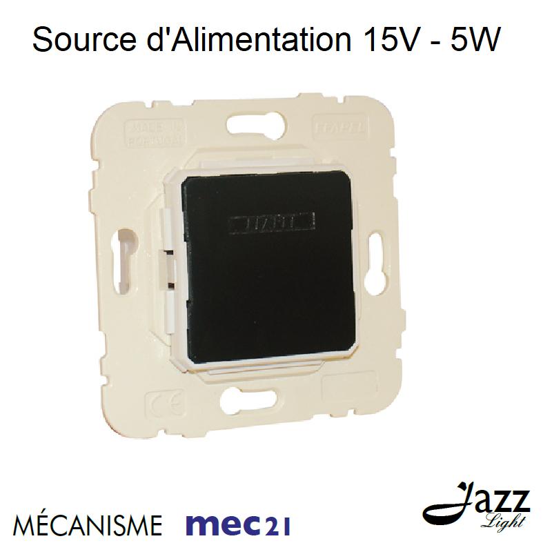 Mécanisme mec21 de Source d\'Alimentation 15V= 5W