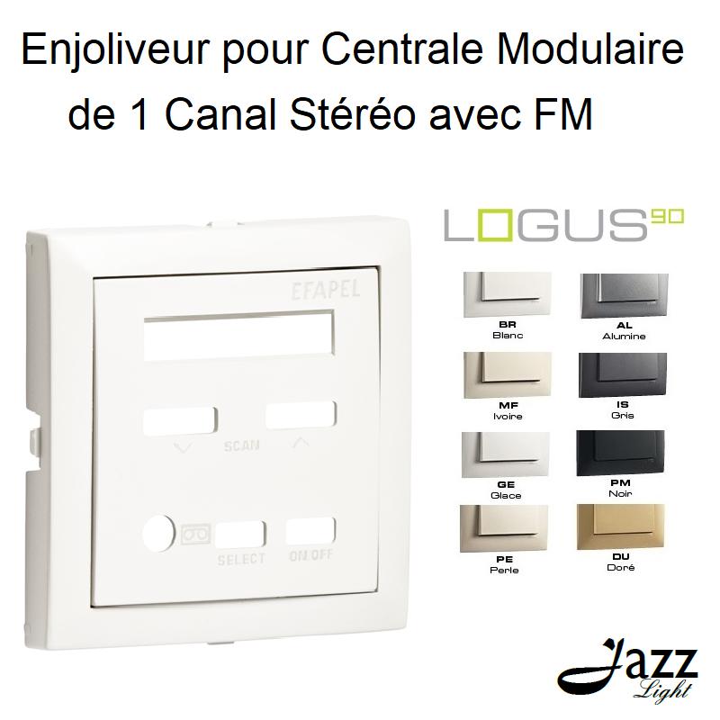 Enjoliveur pour Centrale Modulaire 1 Canal Stéréo avec FM - LOGUS 90