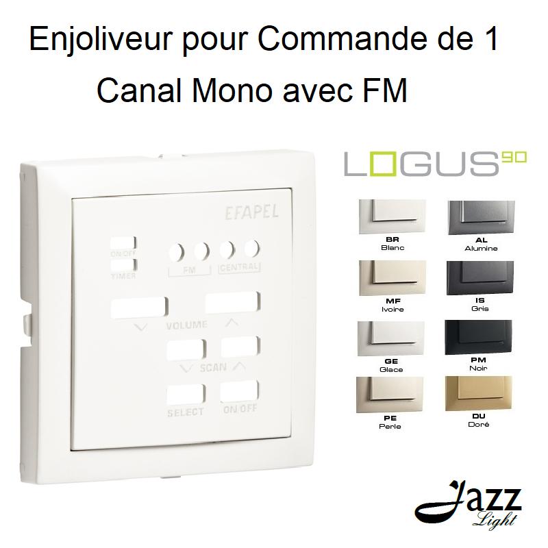 Enjoliveur pour Commande de 1 Canal Mono avec FM - LOGUS 90