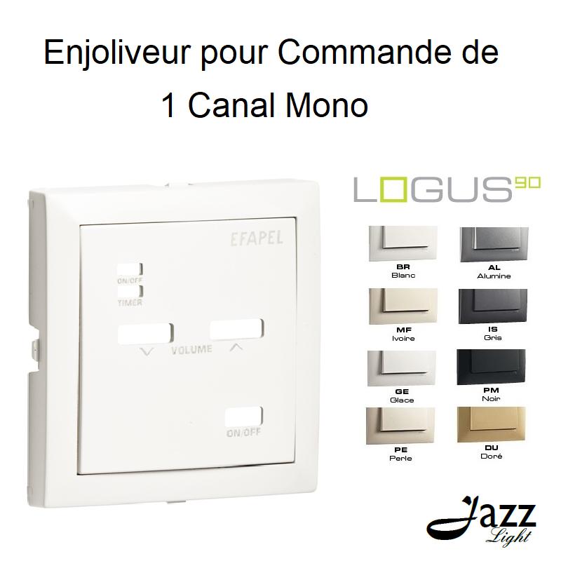 Enjoliveur pour Commande de 1 Canal Mono - LOGUS 90