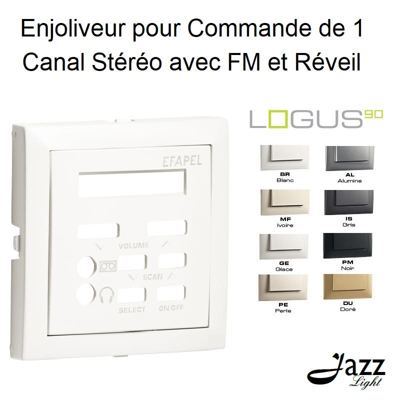 Enjoliveur pour Commande de 1 Canal Stéréo avec FM et Réveil - LOGUS 90