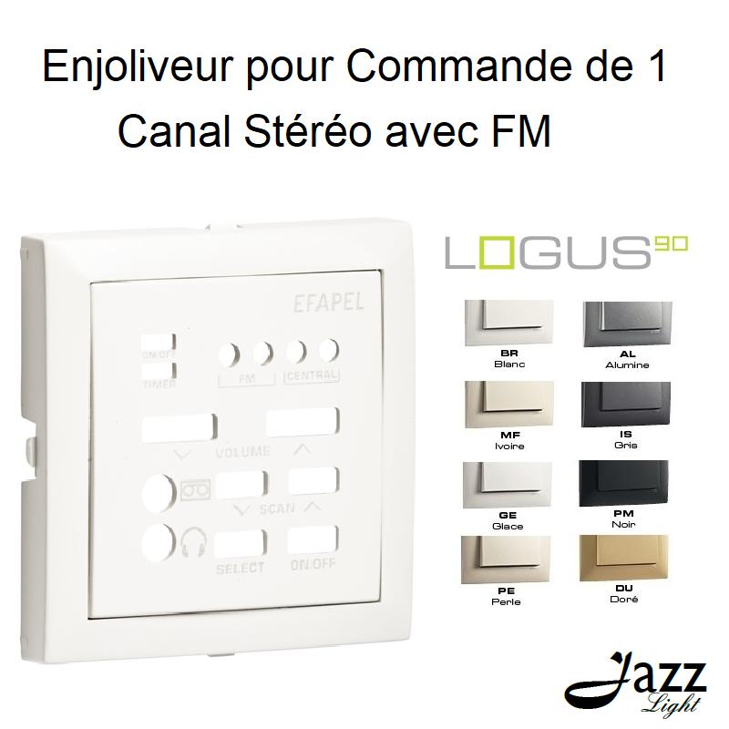 Enjoliveur pour Commande de 1 Canal Stéréo avec FM - LOGUS 90