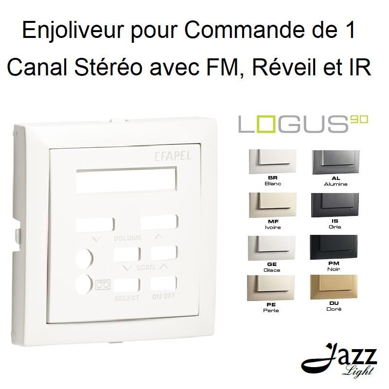 Enjoliveur pour Commande de 1 Canal Stéréo avec FM, Réveil et IR - LOGUS90