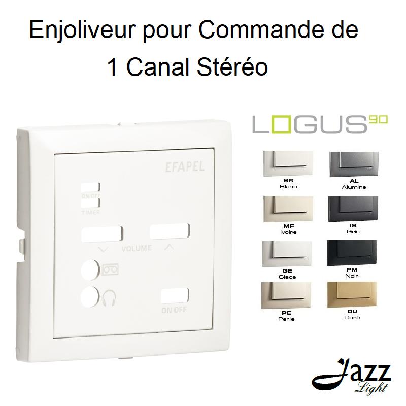Enjoliveur pour Commande de 1 Canal Stéréo - LOGUS 90