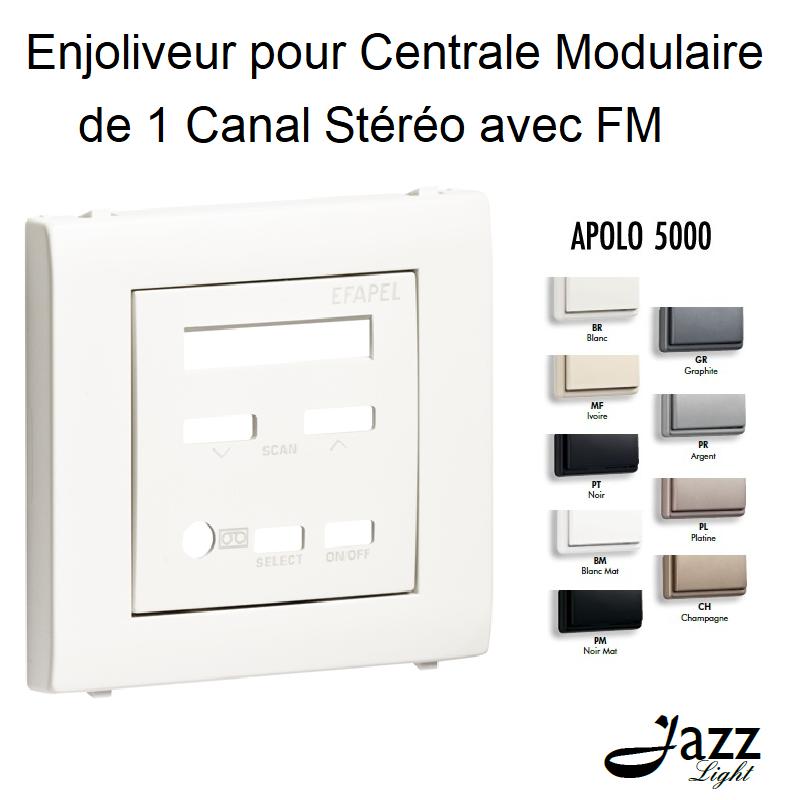 Enjoliveur pour Centrale Modulaire de 1 Canal Stéréo avec FM - APOLO 5000