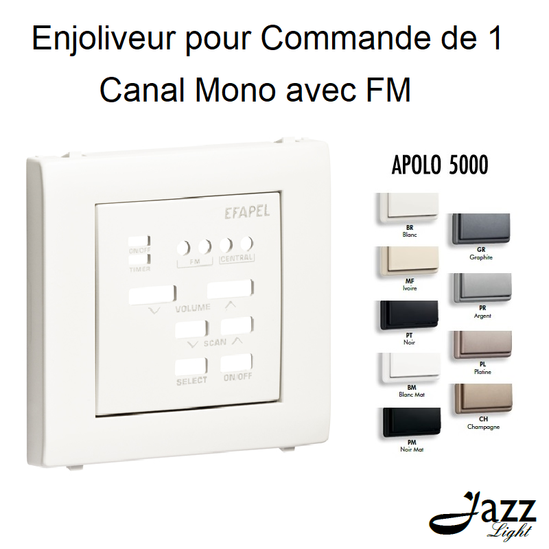 Enjoliveur pour Commande de 1 Canal Mono avec FM - APOLO 5000