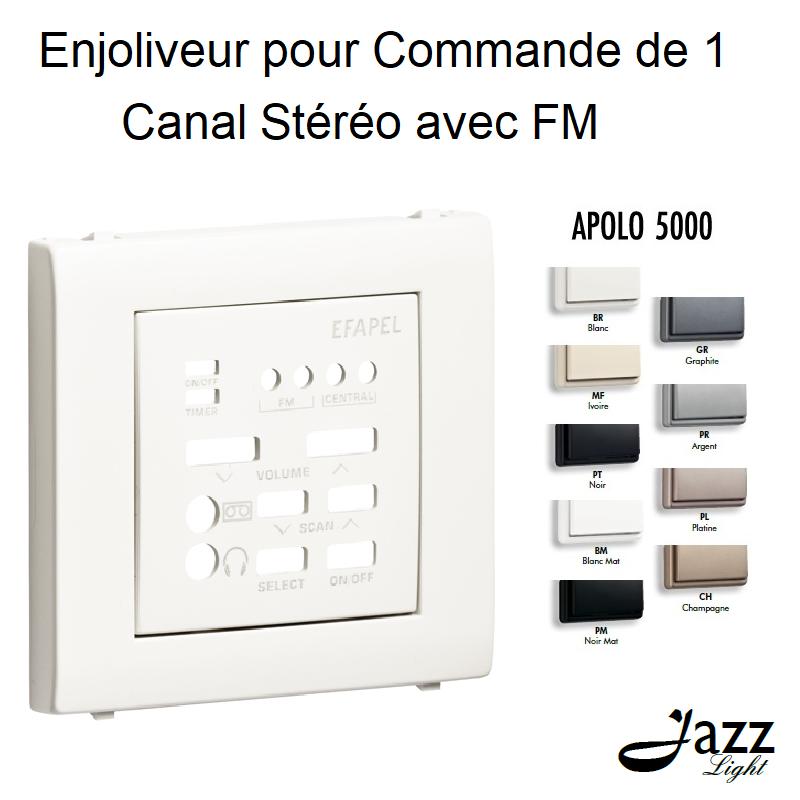 Enjoliveur pour Commande de 1 Canal Stéréo avec FM - APOLO 5000