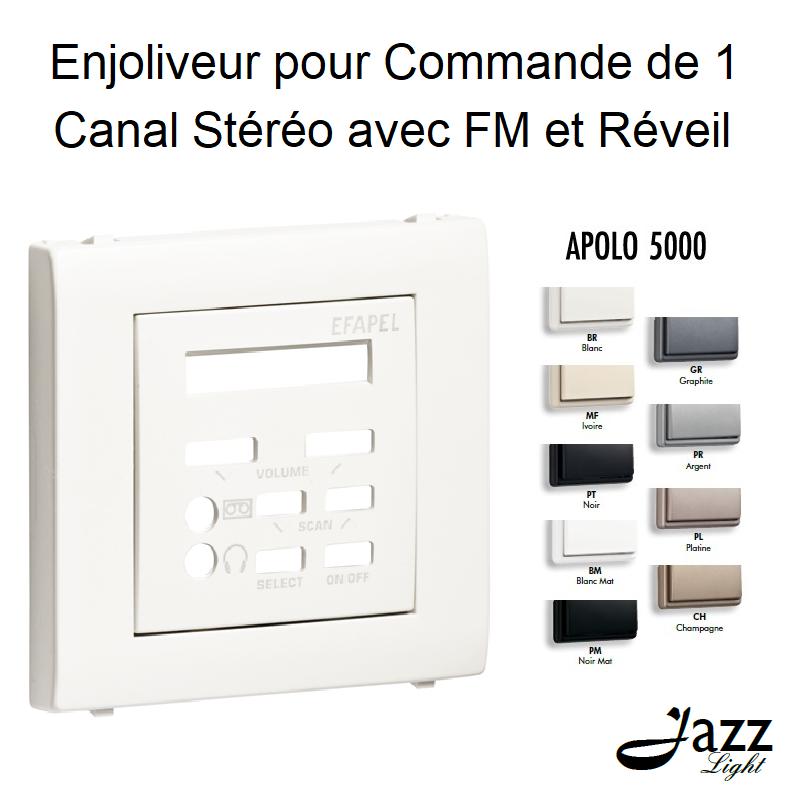 Enjoliveur pour Commande de 1 Canal Stéréo avec FM et Réveil - APOLO 5000