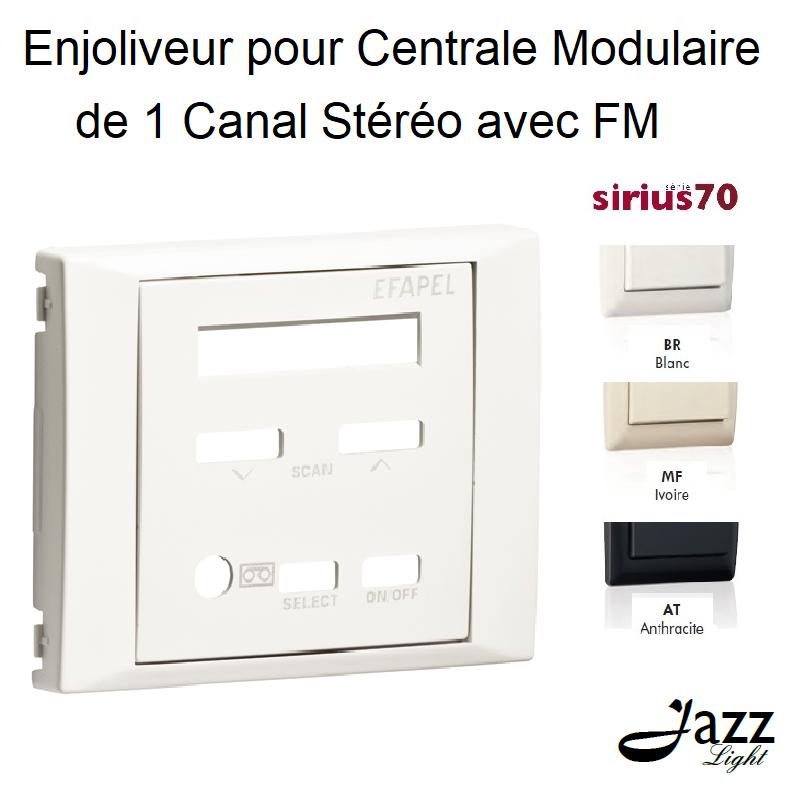 Enjoliveur pour Centrale Modulaire 1 Canal Stéréo avec FM - Sirius 70