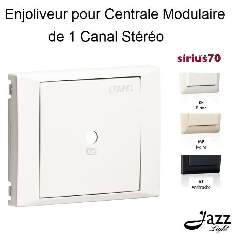 Enjoliveur pour Centrale Modulaire de 1 Canal Stéréo - Sirius 70