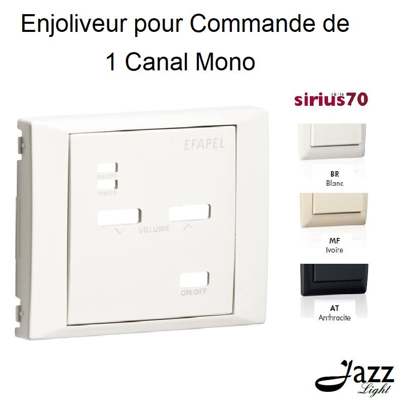 Enjoliveur pour Commande de 1 Canal Mono - Sirius 70