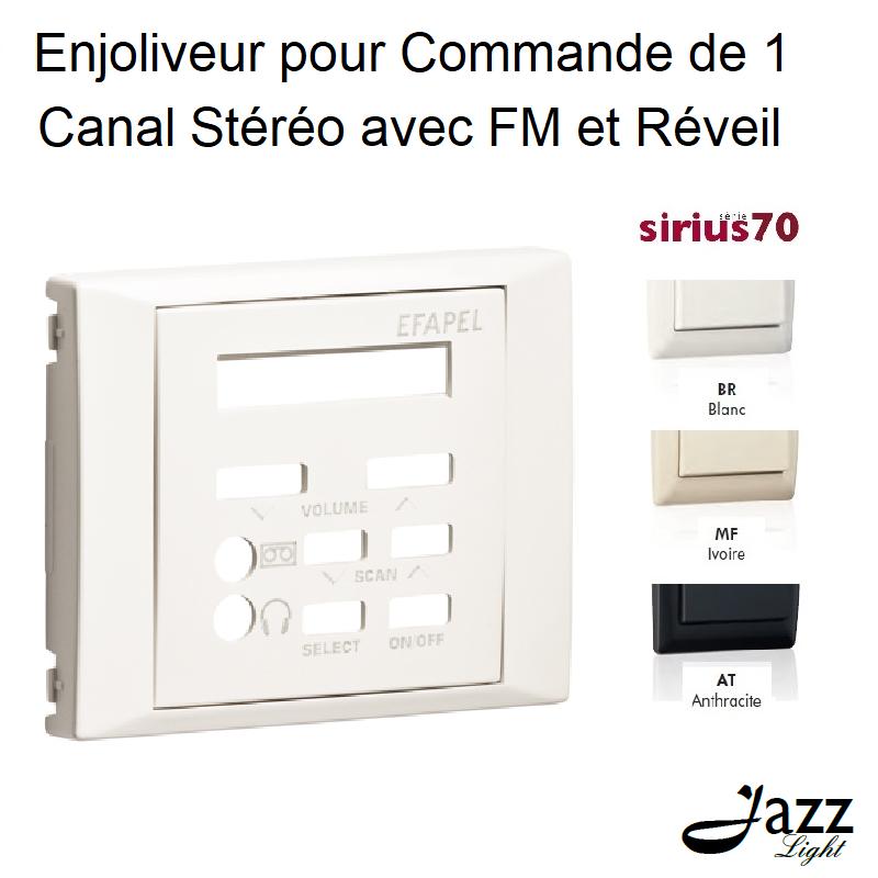 Enjoliveur pour Commande de 1 Canal Stéréo avec FM et Réveil - Sirius 70
