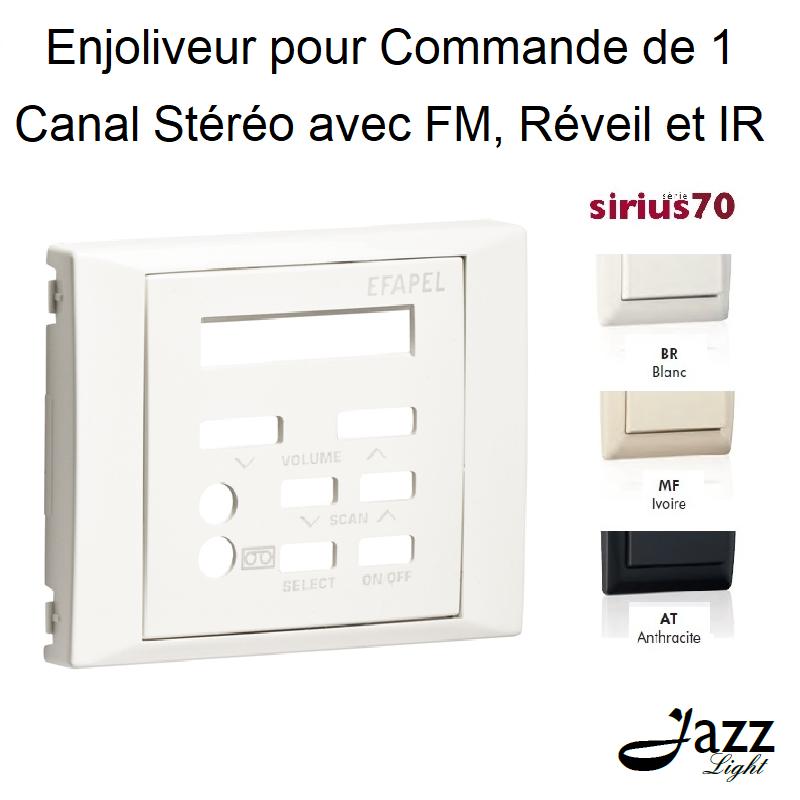 Enjoliveur pour Commande de 1 Canal Stéréo avec FM, Réveil et IR - Sirius70
