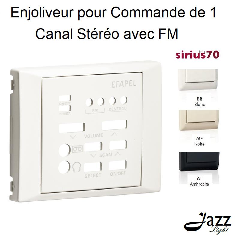 Enjoliveur pour Commande de 1 Canal Stéréo avec FM - Sirius 70