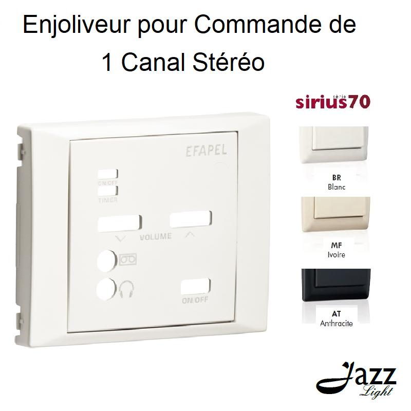 Enjoliveur pour Commande de 1 Canal Stéréo - Sirius 70