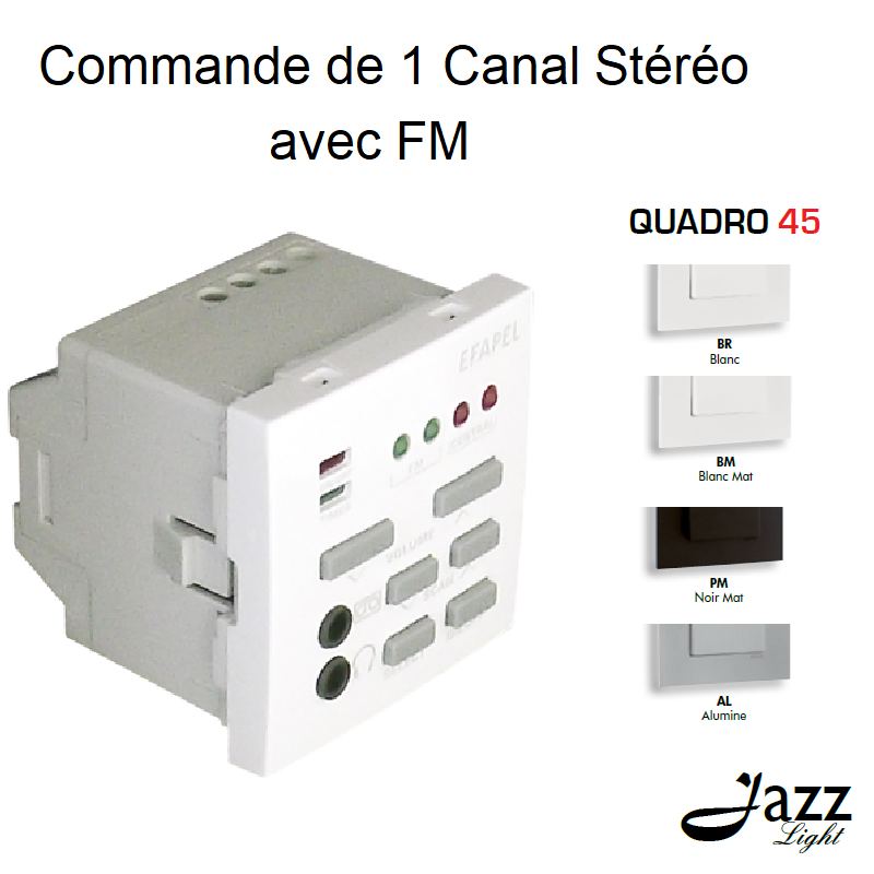 Commande de 1 Canal Stéréo avec FM - 2 Modules QUADRO 45