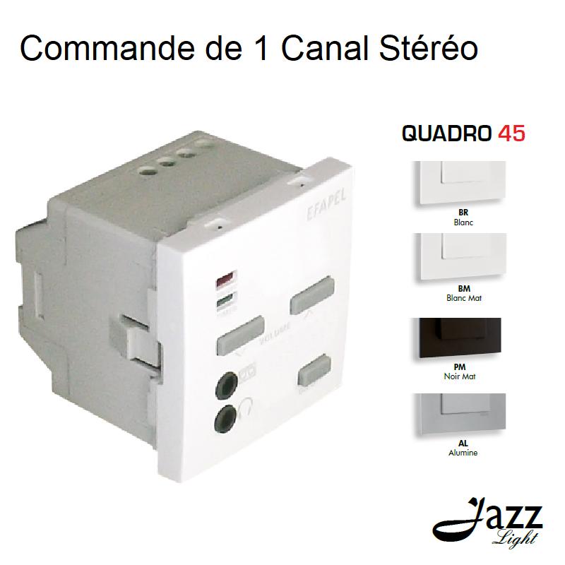 Commande de 1 Canal Stéréo - 2 Modules QUADRO 45