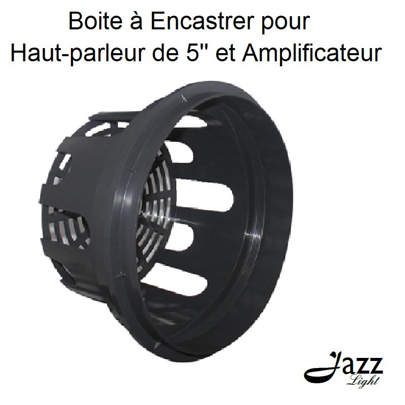 Boite à Encastrer pour Haut parleur de 5 et Amplificateur
