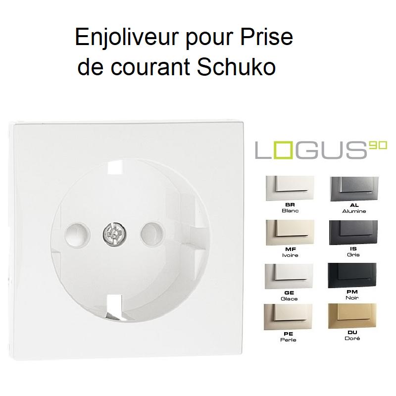 Enjoliveur de Prise de Courant Schuko avec protections - LOGUS90