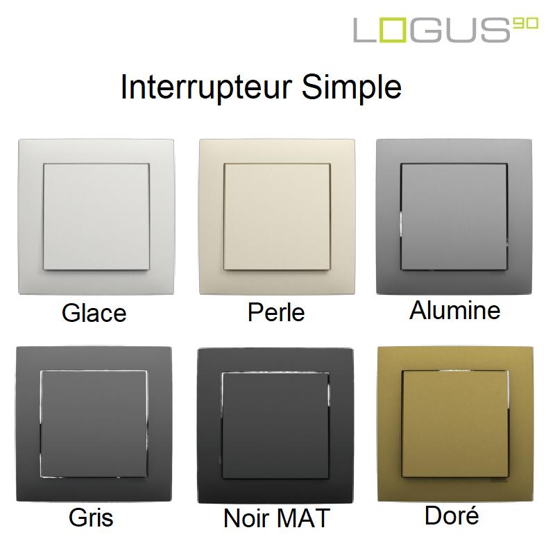Interrupteur LOGUS90 Aquarella