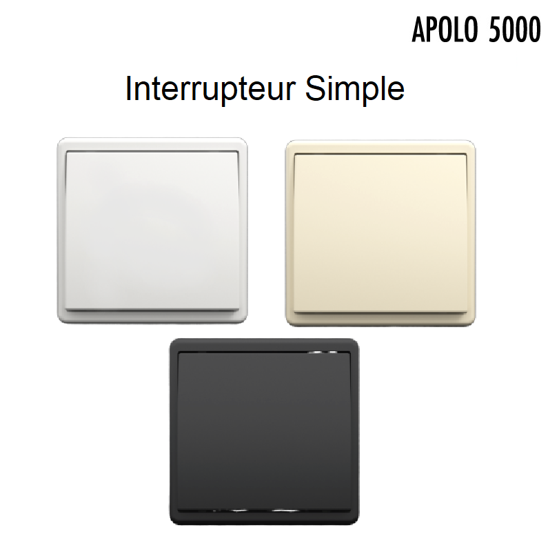 Interrupteur Simple Complet APOLO 5000