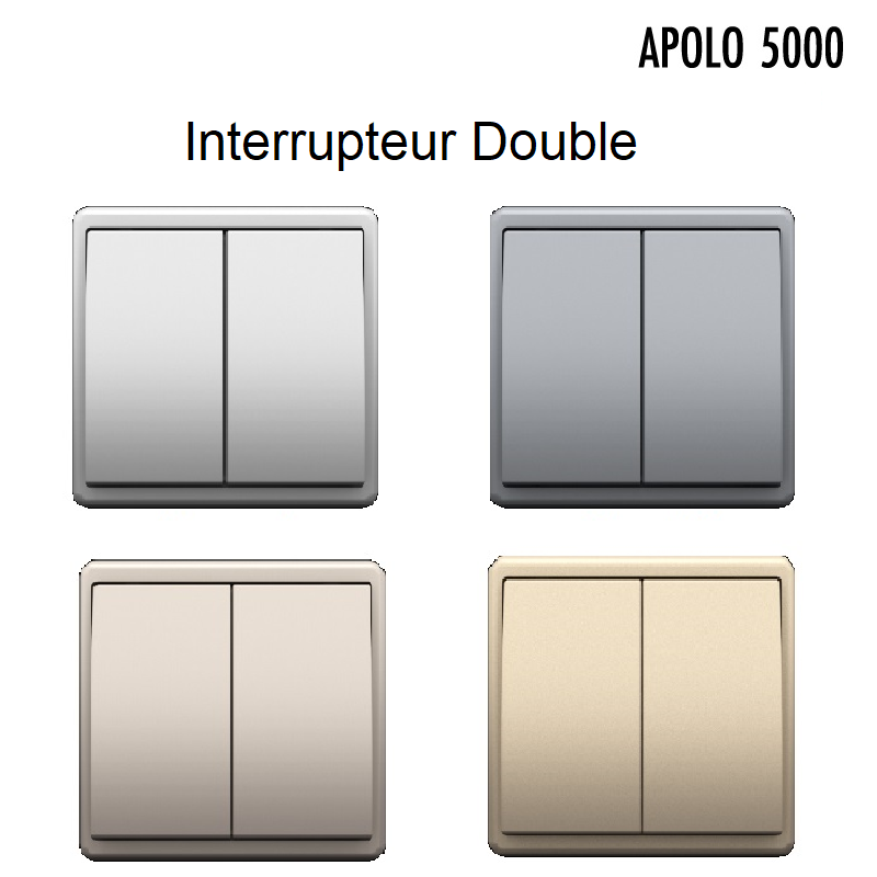 Interrupteur Double APOLO 5000 Métal